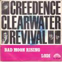 SINGLE CREEDENCE CLEARWATER REVIVAL BAD MOON RISING