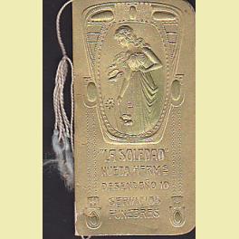 CALENDARIO SERVICIOS FUNEBRES LA SOLEDAD PARA 1906