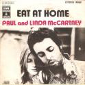 SINGLE PAUL AND LINDA McCARTNEY  - EAT AT HOME