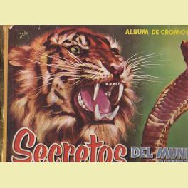 ALBUM COMPLETO SECRETOS DEL REINO ANIMAL