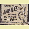 Sobre cromos sin abrir Animales de todo el mundo Editorial Fher