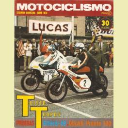REVISTA MOTOCICLISMO JUNIO 1974