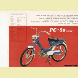 FOLLETO PUBLICITARIO HONDA PC 50 SUPER